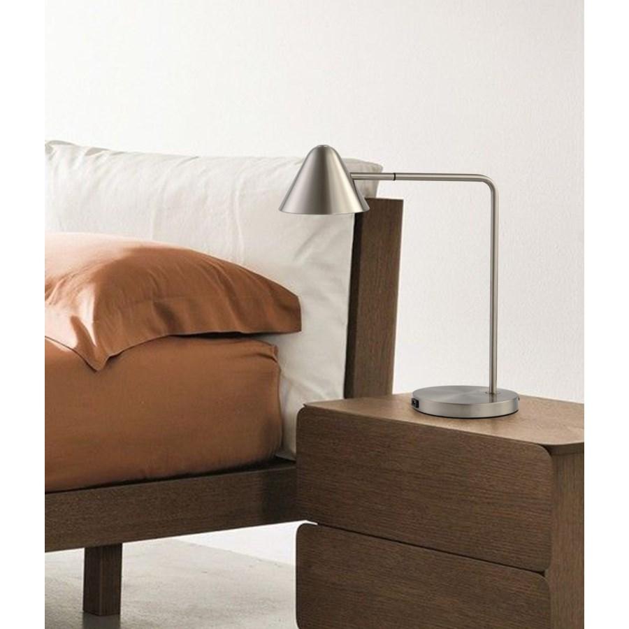 Cove Table Lamp Satin Nickel