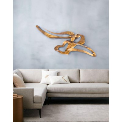 Graceful Wall Art Weathered Brass