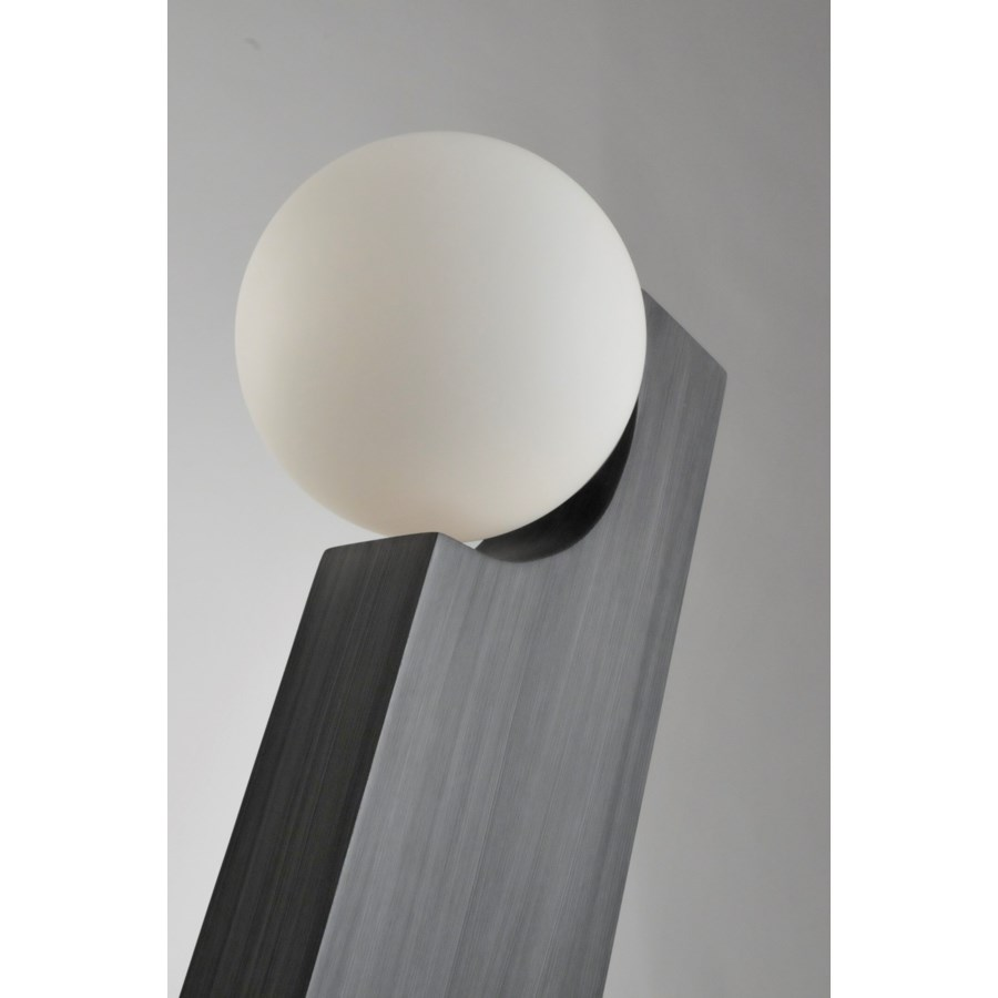 Incline Table Lamp Charcoal Gray
