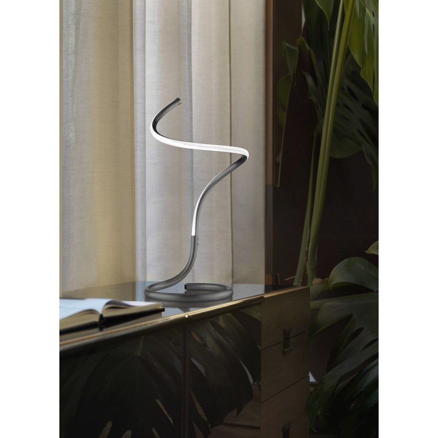 Shimmy Loop Accent Table Lamp Matte Black