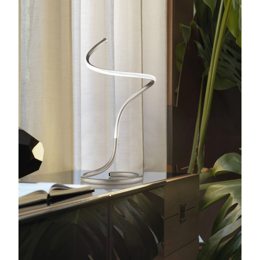 Shimmy Loop Accent Table Lamp Satin Nickel