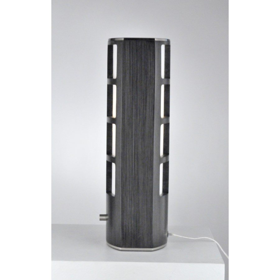 Ventana Accent Table Lamp Charcoal Gray
