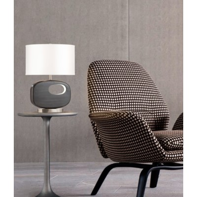 Offset Reclining Table Lamp Charcoal Gray