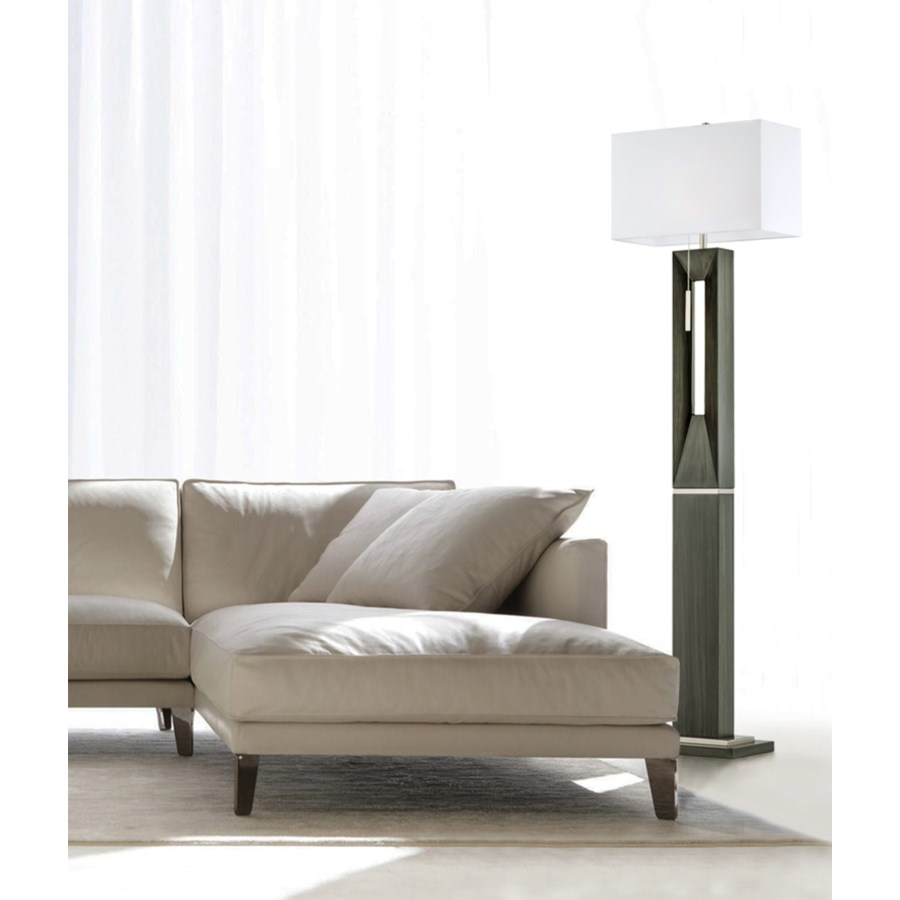 Parallux Floor Lamp Charcoal Gray