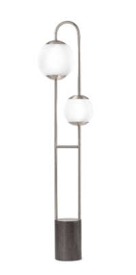 Globus Floor Lamp Brushed Nickel