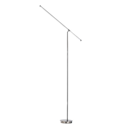 Sentry Floor Lamp Satin Nickel