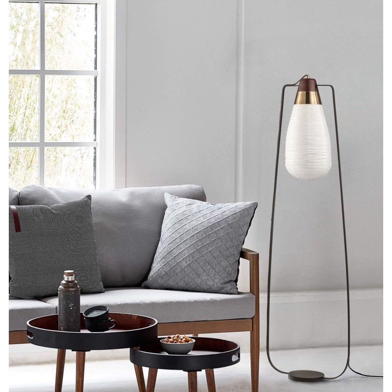 Sunset Floor Lamp Weathered Brass