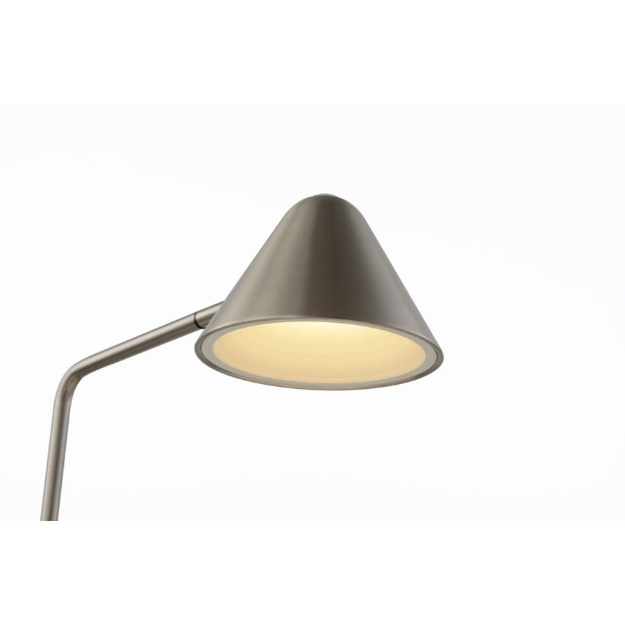 Cove Floor Lamp Satin Nickel