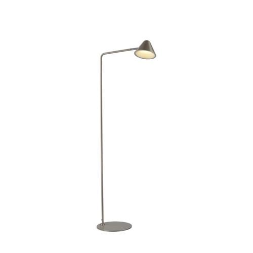 Cove Floor Lamp Satin Nickel