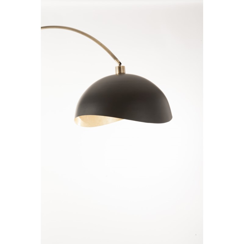 Luna Bella Arc Lamp Weathered Brass