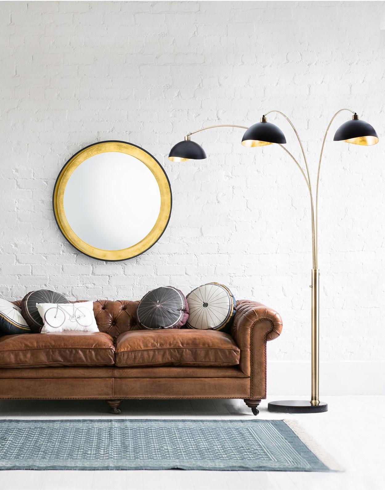 brass arc lamp vintage luna bella three light arc lamp weathered brass arc lamp nova of