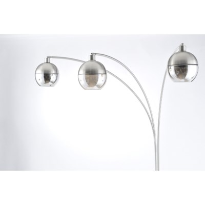 Orson Three Light Arc Lamp Brushed Nickel