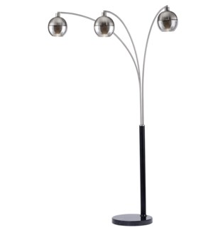 Orson Three Light Arc Lamp Brushed Nickel