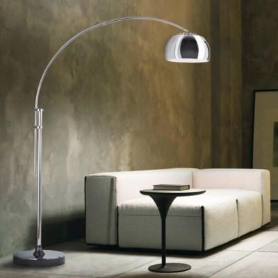 Contour Chairside Arc Lamp Chrome