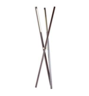 Jackknife Tripod Floor Lamp Pecan