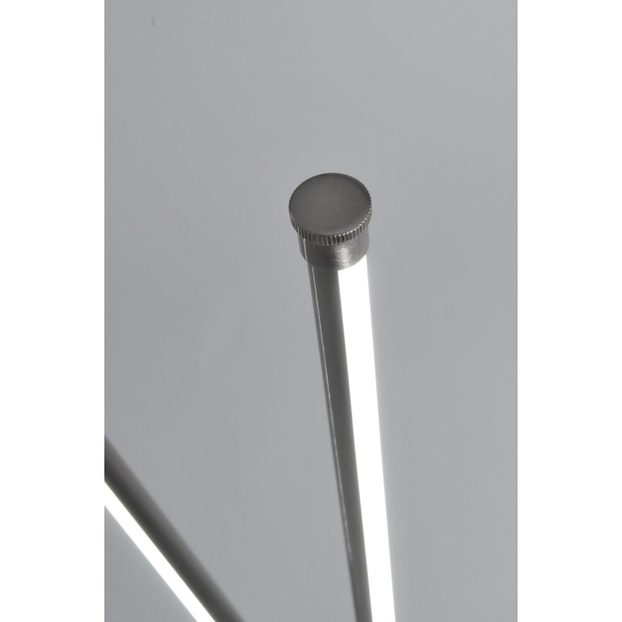 Flaven Cross Accent Floor Lamp Satin Nickel
