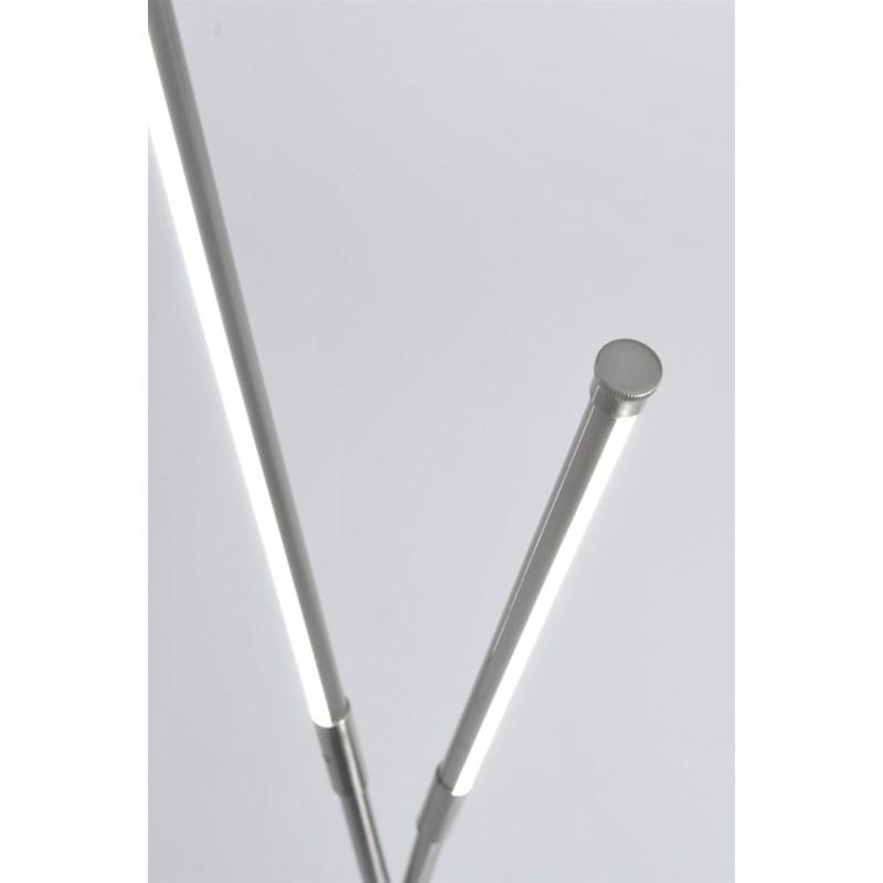 Flaven Cross Accent Floor Lamp Satin Nickel