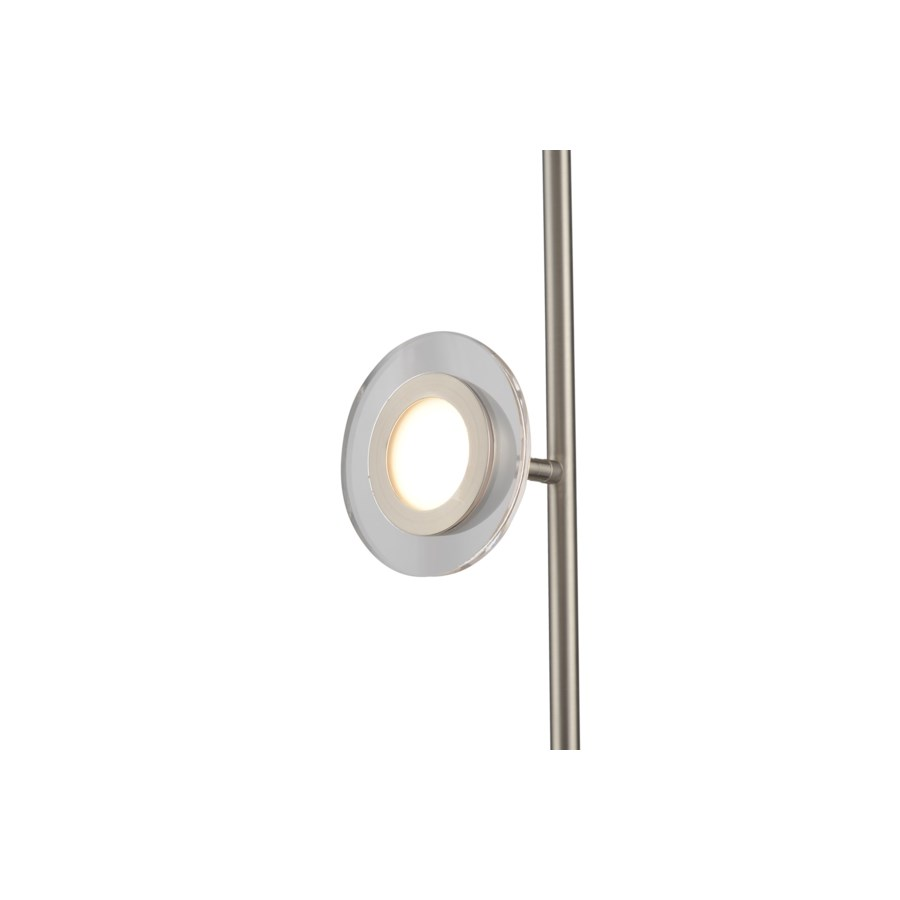 Laurel Accent Floor Lamp Satin Nickel