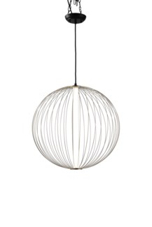 Spokes Pendant Round Small Satin Nickel