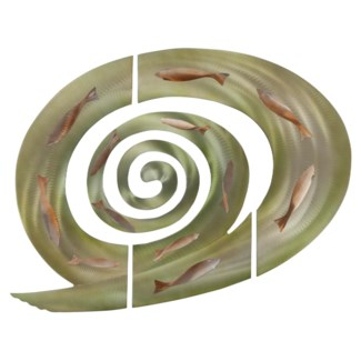 Tidal Swirl, 3-piece Wall Art