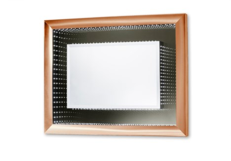 Vanishing Infinity Mirror Rectangular Dorado Gold