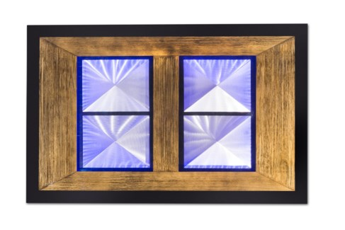 Pyramid Multi-Color Wall Art Rectangular Gold