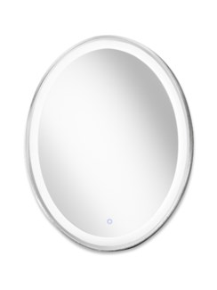 Pool Illuminated Mirror Oval Silver