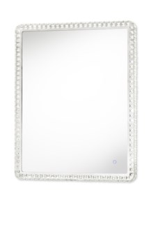 Marilyn Illuminated Mirror Rectangular Large Chrome
