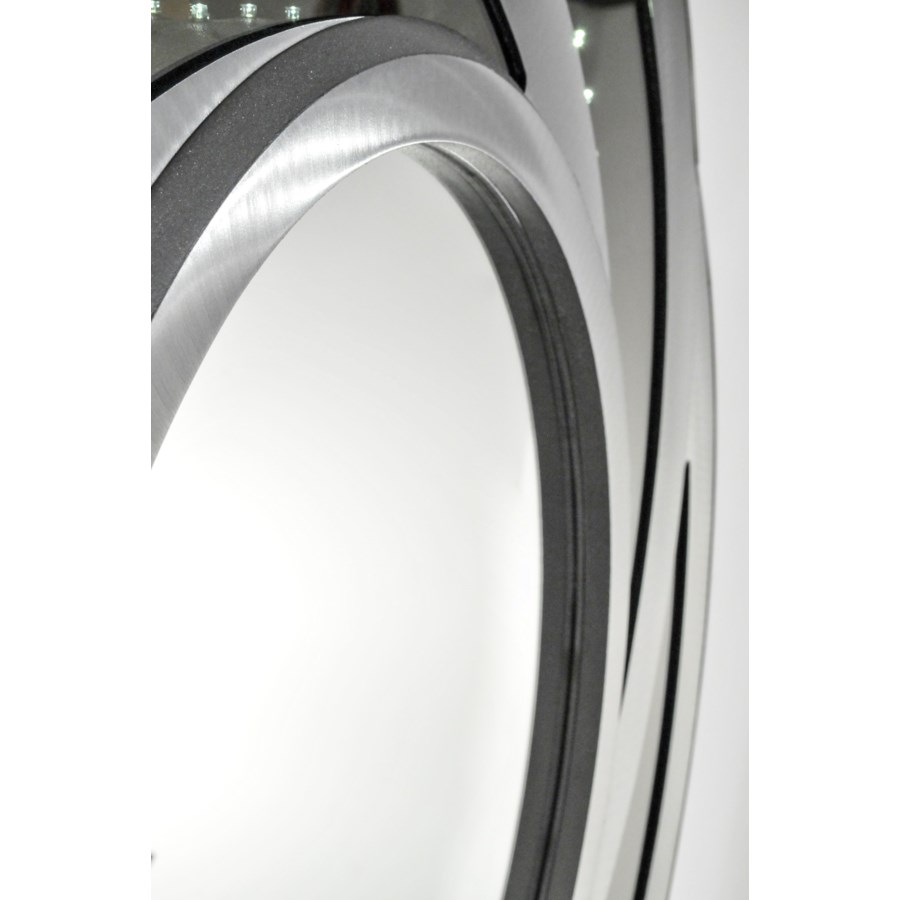 Swirl Infinity Mirror Silver