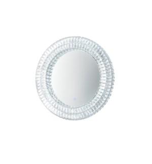 Royal Illuminated Wall Mirror Round Chrome