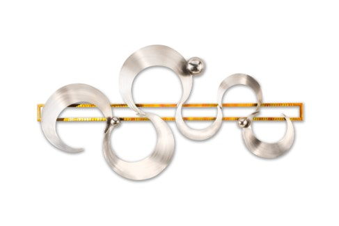Cyclical Wall Art Brushed Nickel