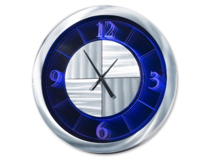 Moment Multi-Color Infinity Clock Round Silver