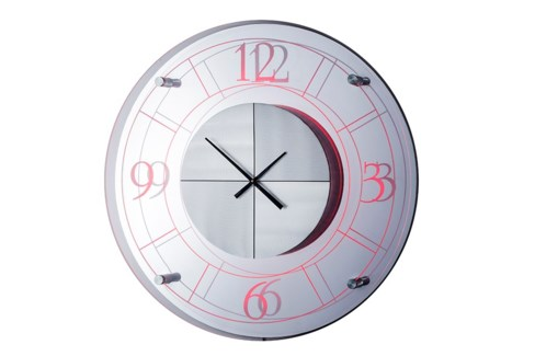 Alexandria Multi-Color Clock Silver