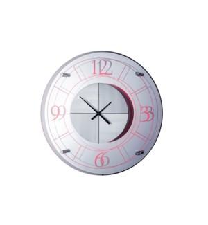 Alexandria Multi-Color Clock Silver