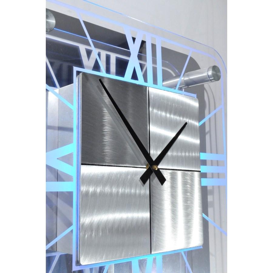 Trevi Pendulum Multi-Color Clock Silver