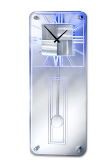 Trevi Pendulum Multi-Color Clock Silver