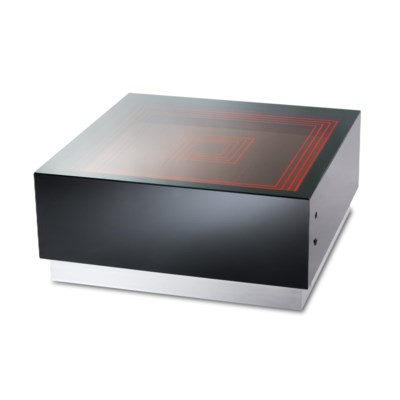 Vector Multi-Color Infinity Cocktail Table Gloss Black