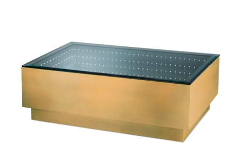 Havana Cocktail Table Rectangle Dorado Gold
