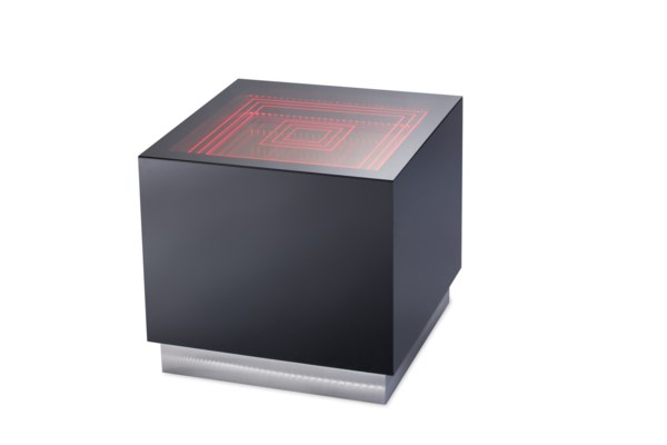 Vector Multi-Color End Table Gloss Black
