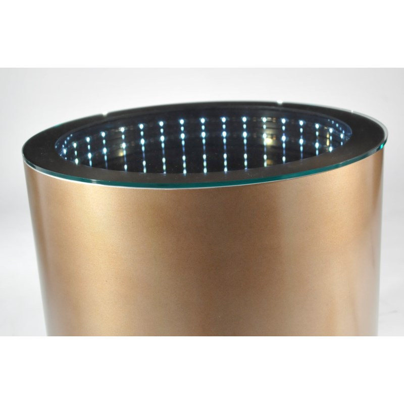 Prow Infinity End Table Dorado Gold