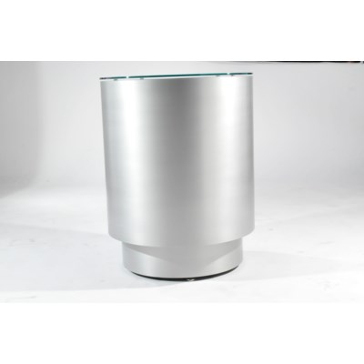 Prow Infinity End Table Silver