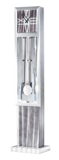 Grandfather Free-Standing Floor Clock Silver