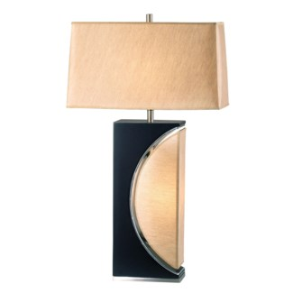 Half Moon Table Lamp Dark Brown