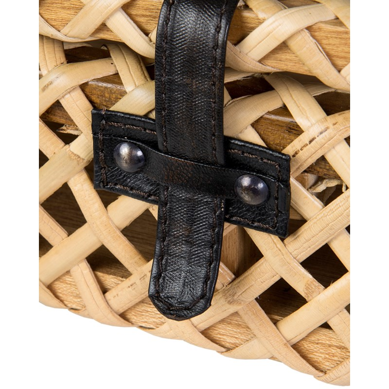 Decorative rattan Box - Natural (12x10x4)