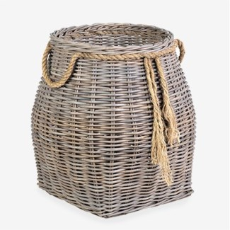 Sabrina Accent Rattan Basket - Large