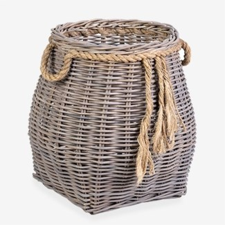 Sabrina Accent Rattan Basket - Small (13x13x17)