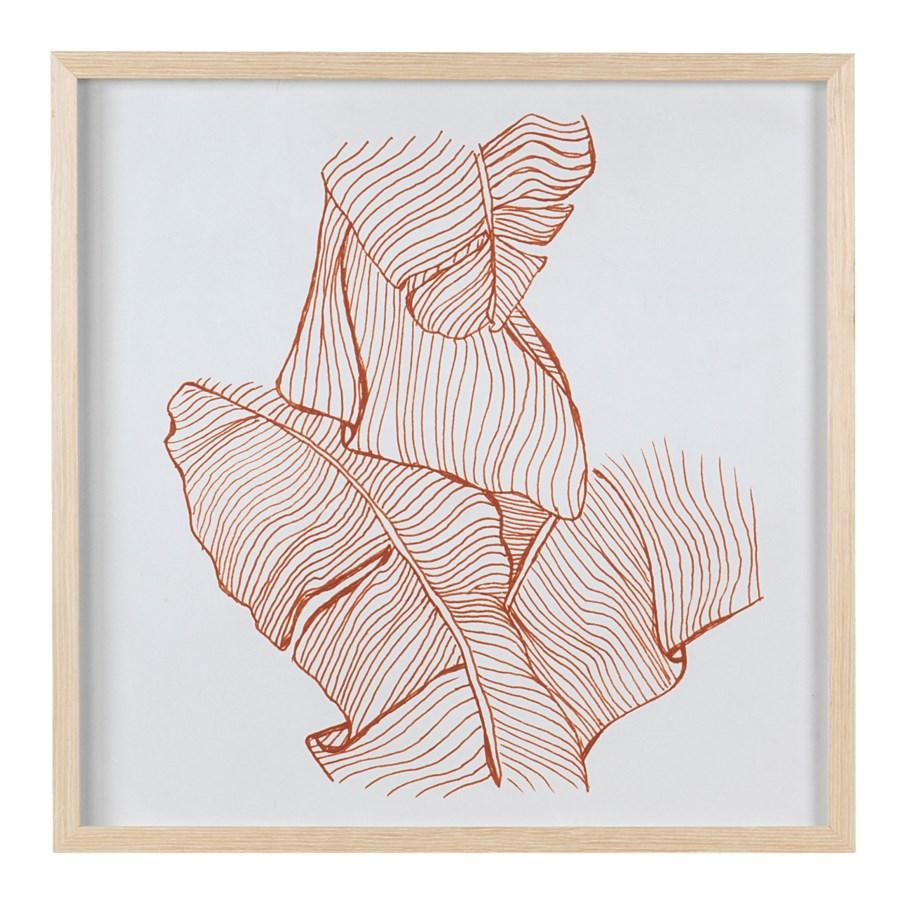 * Leaf Sketches Wall print shadowbox Set/2, 24x24