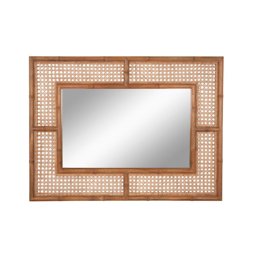 Palm Rectangular Mirror, Natural