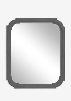 "44"" X 36"" Mirror with Solid Handcarved Mirror Design - Antique Grey"