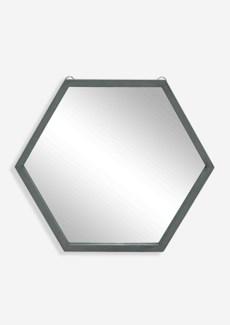 Zoe Hexagon Mirror - Gray